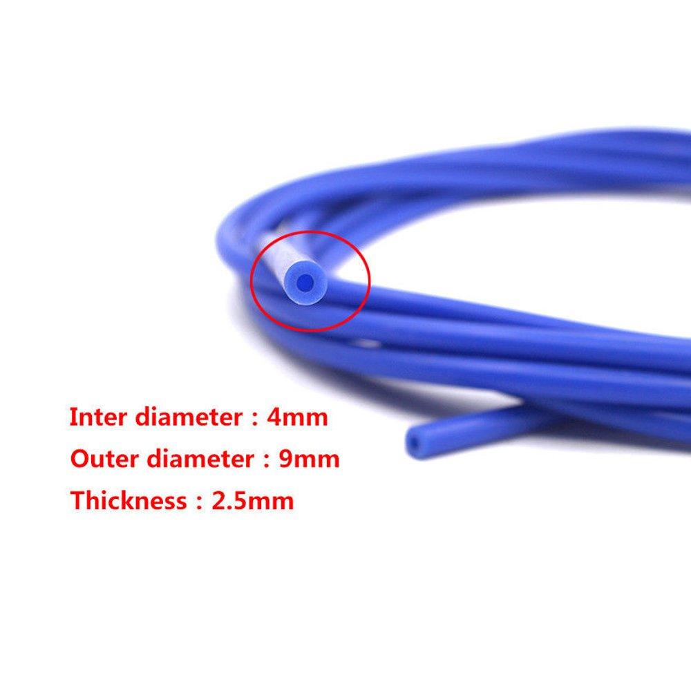 nero 4 mm x 10 m Ramair Filters tubo di depressione in silicone VAC4MM 10M BK