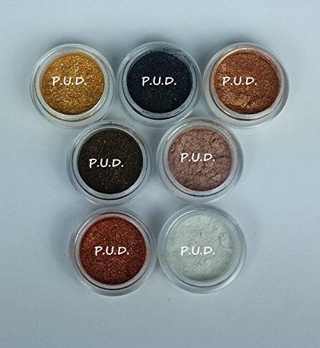 Lot of 7 Sample Micas 10.5 Gram Grams Total  Powder Each Spa