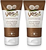 Yes to Coconut Ultra Hydrating Facial Mask (Pack of 2) with Aloe Leaf Juice, Coconut Oil, and Avocado Oil, 2 fl. oz. For Sale