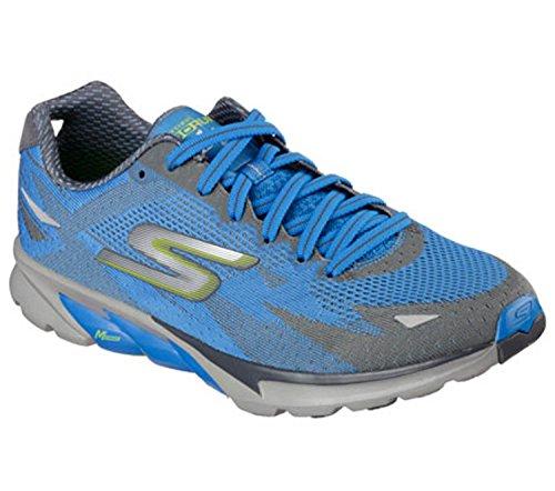 Skechers Men's Go Run 4 2016 Running Shoes Charcoal/Blue 11.5 D(M) US