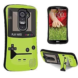 DuroCase ? LG G2 D800 / D801 / LS980 / VS980 Kickstand Case - (Gameboy Green)