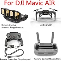 Extended Landing Gear +Remote Controller Lanyard+ Remote Control Thumb Stick + Antenna Range Booster for DJI Mavic AIR