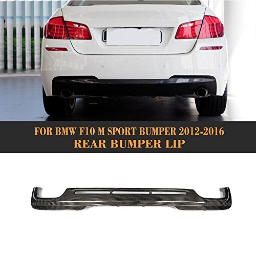 For BMW 5 Series F10 528i 535i 535i 550i M Sport 2012-2016 Customized CNC Moulding Top-fit Rear Bumper Lower Diffuser (Carbon Fiber HAMANN Look Rear (Hamann Carbon)