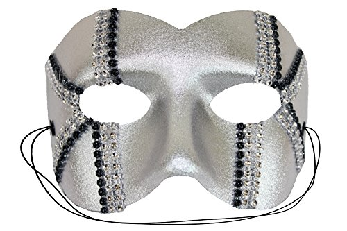 [Daredevil Trax Silver Men's Masquerade Mask] (Soft And Sexy Mask)