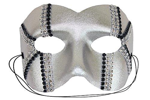 Success Creations Daredevil Silver Men's Masquerade Mask