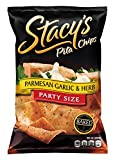 Stacy's Pita Chips, Parmesan Garlic & Herb, 18-Ounce Bags (Pack of 6)