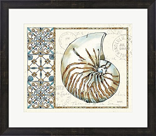 Coastal Breeze I by Anne Tavoletti Framed Art Print Wall Picture, Espresso Brown Frame, 23 x 20 inches