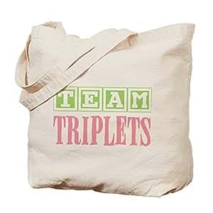 Team Triplets - Cotton Canvas Shopping Bag, Tote Bag designed by Leiacikl22