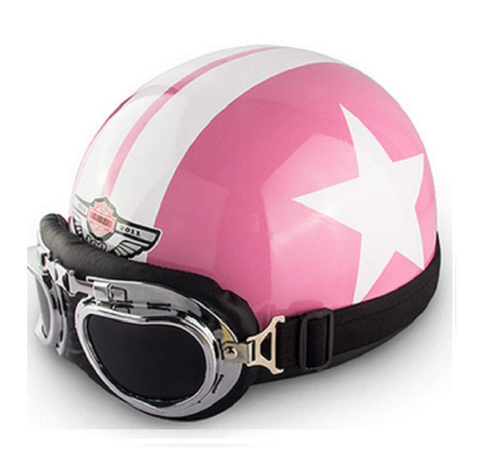 Star Pinke GOHAN B-40 bombshell helmet vespa motorcycle helmet scooter helmet jet helmet bobber vintage moped scooter helmet pilot cruiser chopper helmet retro with fabric carry bag with