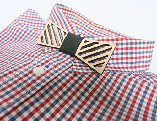 Stripe Wooden Bow Tie,Wood Bow Tie, Fashion Accessories For Men, Women