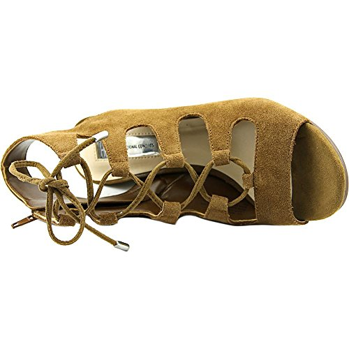 Strappy Open Fabric International Womens Toffee Casual Toe Sandals INC Radka Concepts q8XIIw