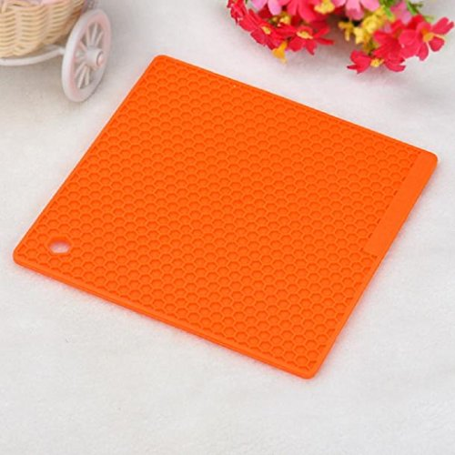 Mandy Kitchen Table Pad Tools Silicone Pot Holder Trivet Mat Heat Resistant by Mandy (Image #4)