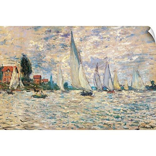 (CANVAS ON DEMAND Regattas at Argenteuil, by Claude Monet, ca. 1874. Musee D'Orsay, Paris, France Wall Peel Art P. )