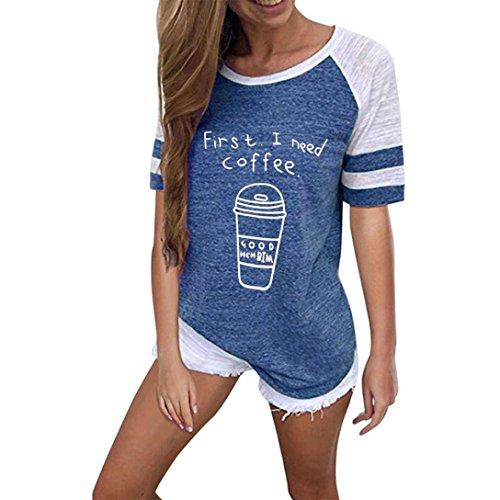 courte Nouvelle Femme Mignon Tops Chat Bleu Blouses 2018 Chemisiers t Couleurs Mode Confortable T Printemps Automne Sweatshirts Mode XXL S Courte Shirts Manches SHOBDW Cinq Femme 5t4AqxnA