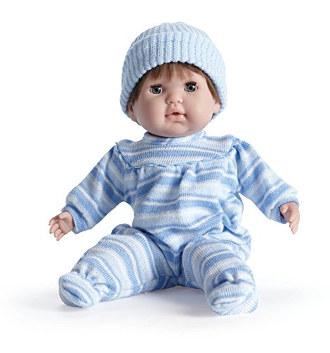 """JC Toys - Berenguer Boutique Nonis 15""""  Soft Body Play Doll in Blue Striped PJ"""