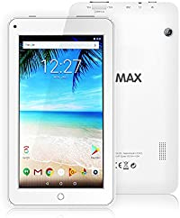 "ECVILLA KMAX - Tablet de 7"" (19,0 cm) (Quad-Core, HD,16 GB de Memoria Interna, Android 7.0 Lollipop,WiFi) Blanco"