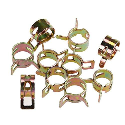 SNOWINSPRING 75 pieces//ensemble Agrafe de tuyau dunite centrale de traitement de leau de carburant de ressort de vide de 6-10mm Tube pour pince a bande Kit dassortiment de fixations metalliques