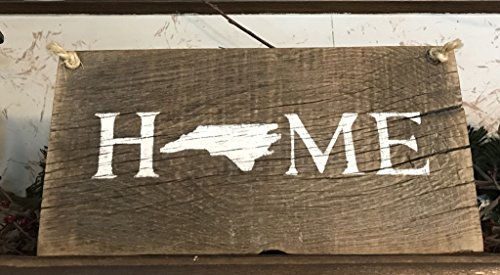 North Carolina State Home Barn Wood Signs