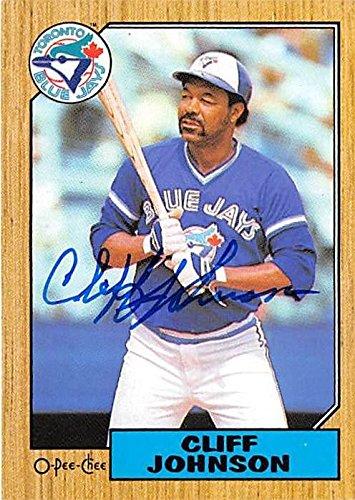 Cliff Johnson Autographed Baseball Card Toronto Blue Jays