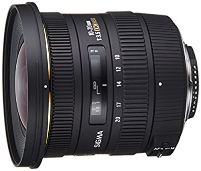 Sigma 10-20mm f/3.5 EX DC HSM ELD SLD Aspherical Super Wide Angle Lens for Nikon Digital SLR Cameras by SIGMA