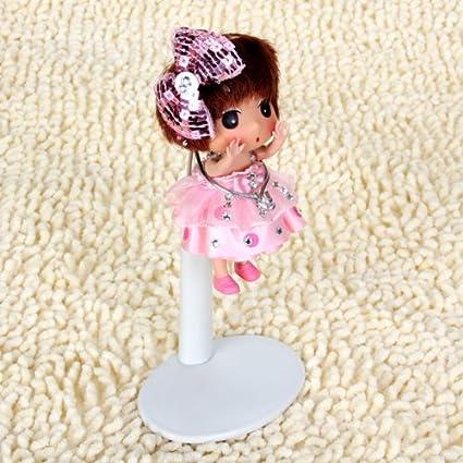 Baoblaze 2St Mini Einstellbare Puppenst/änder Displayhalter Halterung f/ür Puppe Spielzeug Zubeh/ör 11-14 cm Wei/ß + Schwarz
