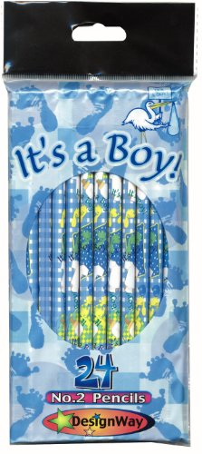 DesignWay It's a Boy 24-Pack No. 2 Pencil, (Baby Shower Pencils)