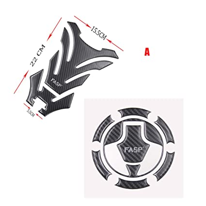 Amazon.com: 5D Carbon Fiber Motorcycle Sticker Fuel Tank Gas ...