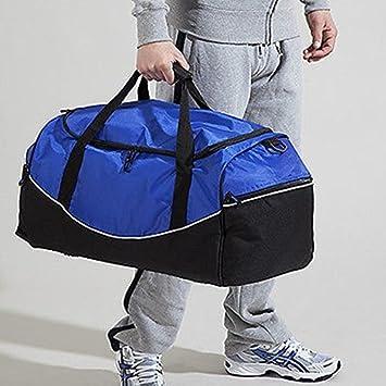 9cc9819bc078 Plain Black Gym Sports Duffel Holdall Bag with shoe bag  Amazon.co.uk   Sports   Outdoors