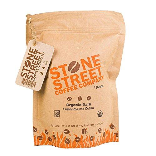 DARK ROAST ORGANIC GROUND COFFEE   1 LB Resealable Bag   Fair Trade & Rain Forest RFA Certified   Full-Body, Bold, Rich Taste  100% Arabica Origin