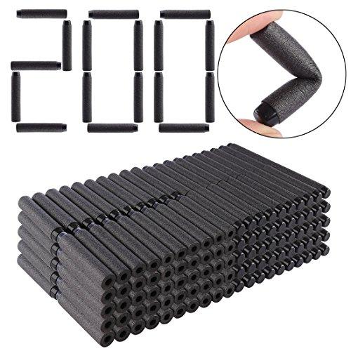 Refill Darts, Lingxuinfo 200-Dart Refill Pack Refill Bullets for nerf jolt nerf modulus series nerf n-strike elite series, Black, Solid Head