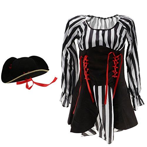 Baoblaze de Sombrero Capitán Vestido Vendaje Cinta con Fiesta de Bachelorette Roja ZrcZAwE6q