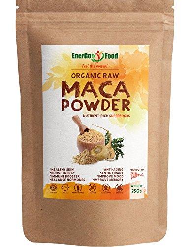 Organic Maca Powder - Rich in Vitamins, Calcium, Zinc & Fibres- Enhance...