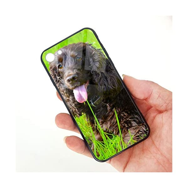 Irish Water Spaniel iPhone 7 /iPhone 8 Compatible Tempered Glass Phone Case Fashion Hard Glass Back Cover 3