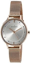 Skagen Women's SKW2151 Anita Quartz 3 Hand Stainless Steel Rose Gold Watch