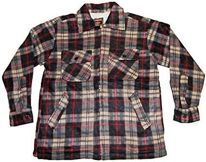 Pierre-cedric Chaqueta Camisa de Cuadros Leñador Hombre Forrada Pieles Faux Oveja: Amazon.es: Ropa y accesorios