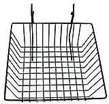 Slatwall/Gridwall Basket 12'' Long x 12'' Deep x 4'' High Black