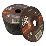 (PACK OF 4) Parweld 115mm Grinding discs for steel (115 x 6.0 x 22.2mm) 4.5'