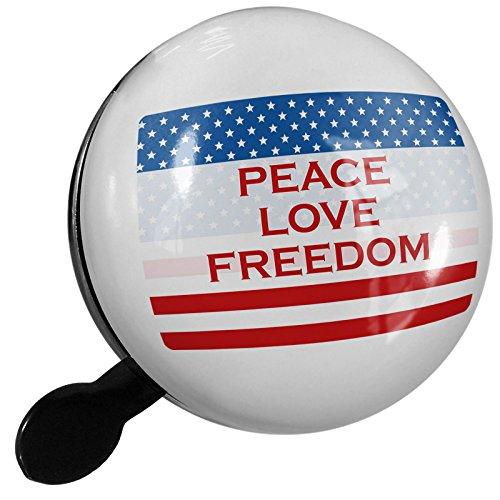 Small Bike Bell Peace Love Freedom Fourth of July Flag - NEONBLOND by NEONBLOND