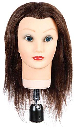 Female Hairart Mannequin - HAIRART Human Hair Female Mannequin Deb 13 Inch 4122N