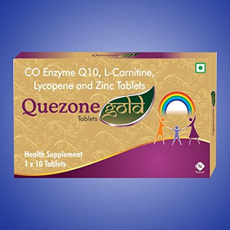 Buy Quezone Gold Tablets With Coenzyme Q10 100mg L Carnitine Zinc