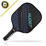HUDEF Pickleball Paddle-Graphite Pickleball Racquet Lightweight 7.2-7.8oz,PP Honeycomb Composite Core Balanced Pickleball Rackets,USAPA Approved