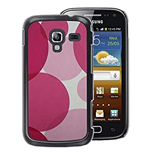 A-type Arte & diseño plástico duro Fundas Cover Cubre Hard Case Cover para Samsung Galaxy Ace 2 (Round Fuchsia Pink Purple Pretty)