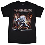 Iron Maiden Men's Real Live Wire T-shirt Black, Black, X-Large