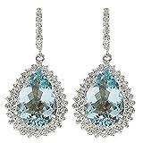 Toponly Solid Sapphire Stud Hoop Earrings Wedding Jewelry Rhinestone Style Wedding Earrings for Women