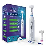 Triple Bristle Go Travel Sonic Toothbrush – AA Battery Charged, Perfect For On The Go Life Style – Great for camping, sleep overs, office, traveling, gym or in a Urt in Utah. Where will your Go, go?