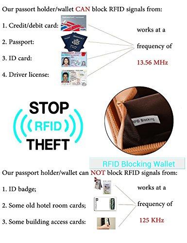 UTO Women PU Leather Wallet RFID Blocking Large Capacity 15 Card Slots Smartphone Holder Snap Closure New Black by UTO (Image #7)