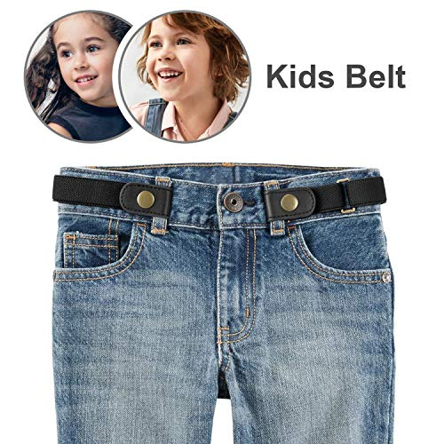 No Buckle Stretch Belt for Child Boys/Girls Buckle Free Kids Belt Buckleless for Pants Jeans