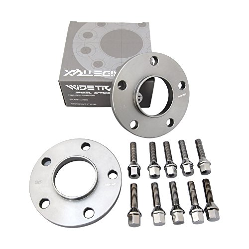 Rugged TUFF WIDETRAX 2pc 15mm 5x120 Wheel Spacers Kit 12x1.5 Cone Seat Lug Bolts Included Hub Centric Titanium Finish 6061 T6 Billet Aluminum for BMW (1 Pair)
