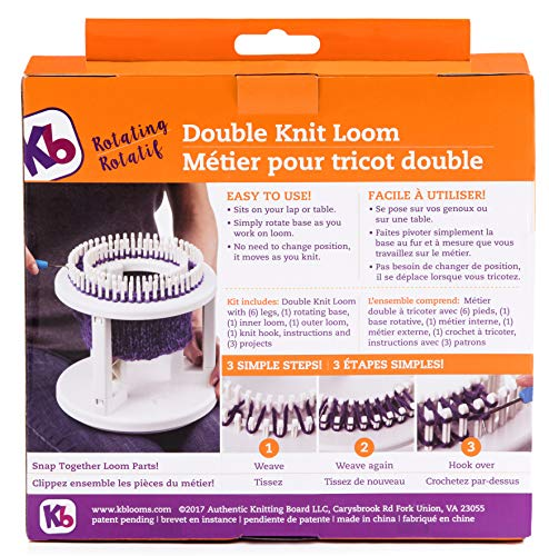 Authentic Knitting Board Rotating Double Knit Loom Off White by Authentic Knitting Board (Image #2)