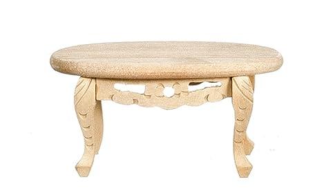 Tavolini In Legno Grezzo Da Salotto : Melody jane casa delle bambole ovali tavolino grezzo legno grezzo